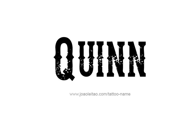 Tattoo Design Name Quinn
