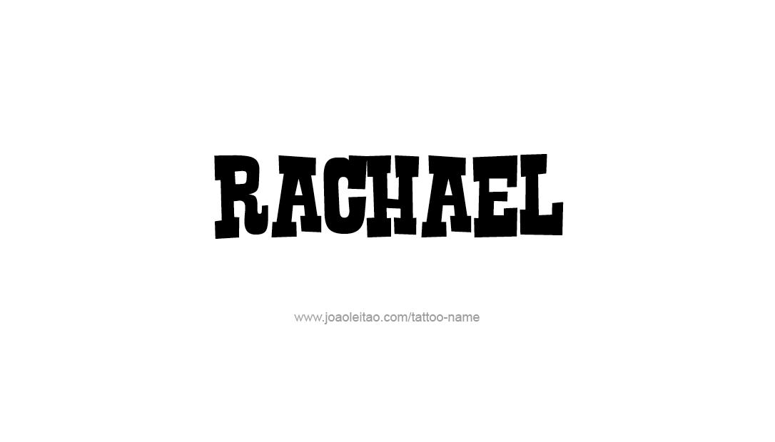 Tattoo Design Name Rachael