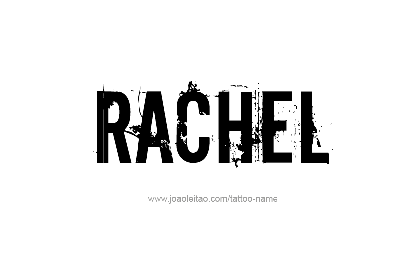 Tattoo Design Name Rachel