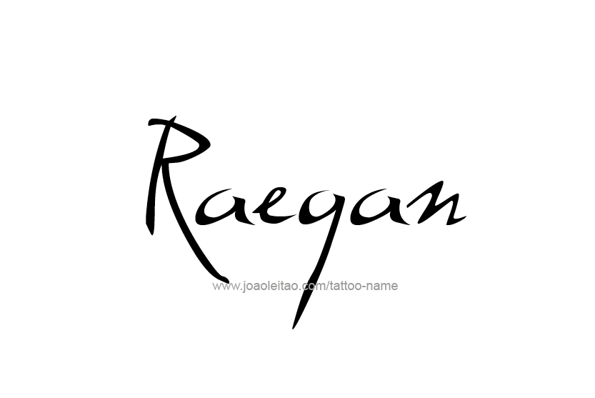 Tattoo Design Name Raegan
