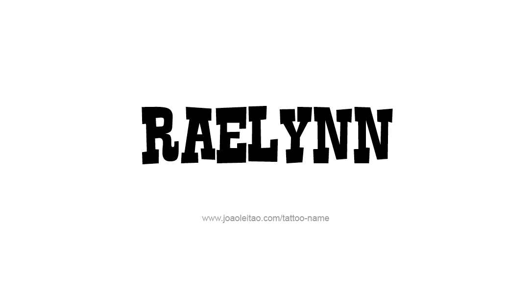 Tattoo Design Name Raelynn