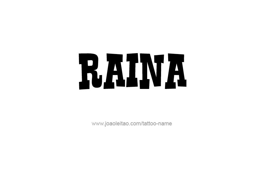 Tattoo Design Name Raina