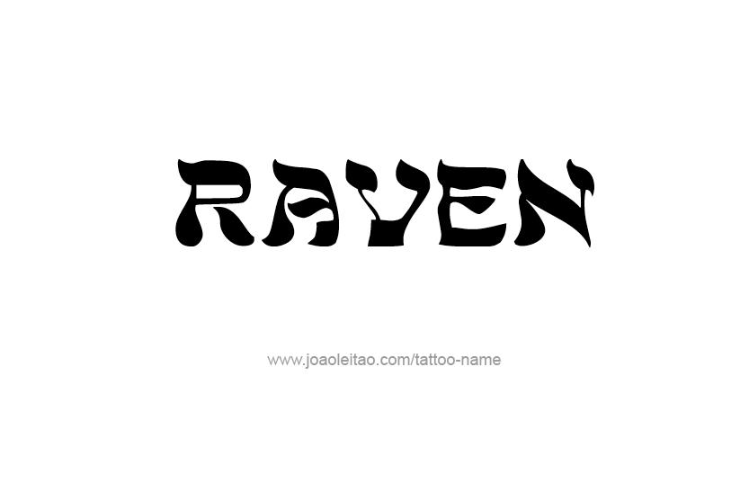 Tattoo Design Name Raven