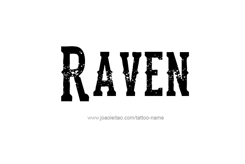 Tattoo Design Name Raven