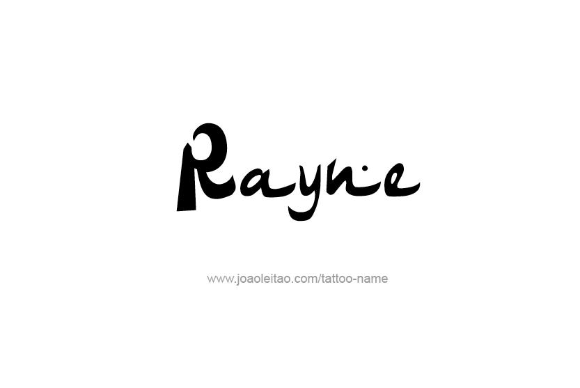 Tattoo Design Name Rayne