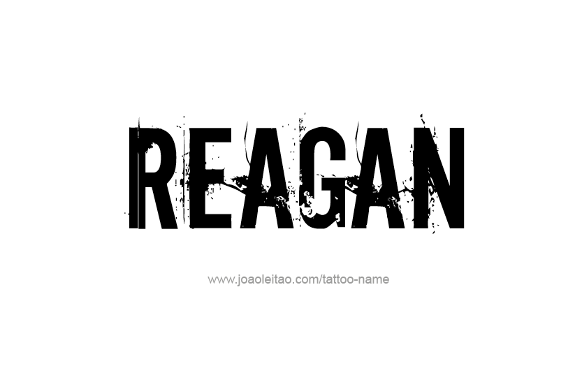 Tattoo Design Name Reagan