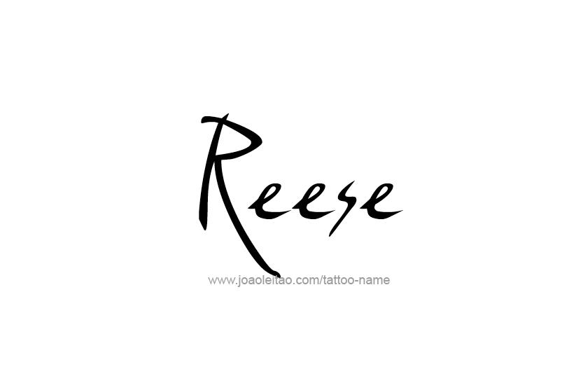 Tattoo Design Name Reese