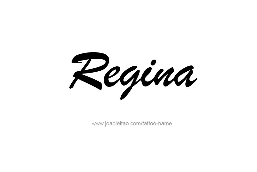 Tattoo Design Name Regina