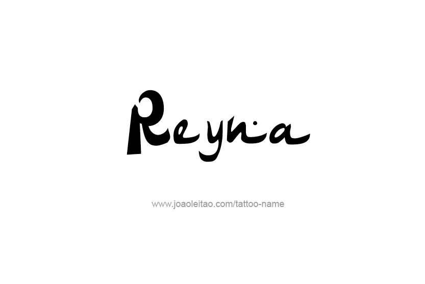 Tattoo Design Name Reyna