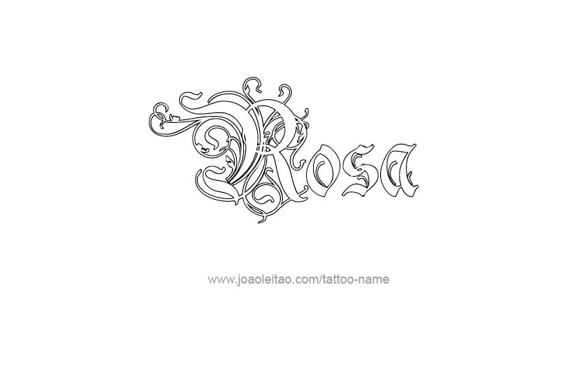 Tattoo Design Name Rosa