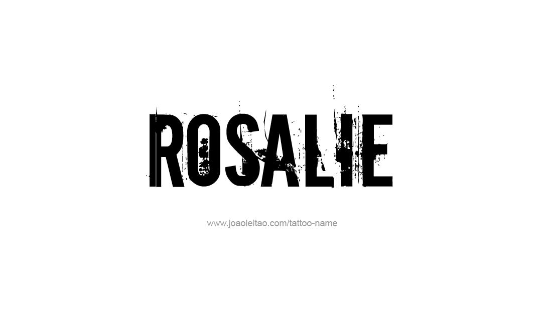 Tattoo Design Name Rosalie