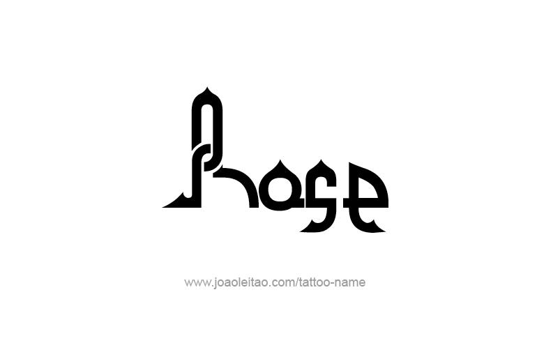 Tattoo Design Name Rose