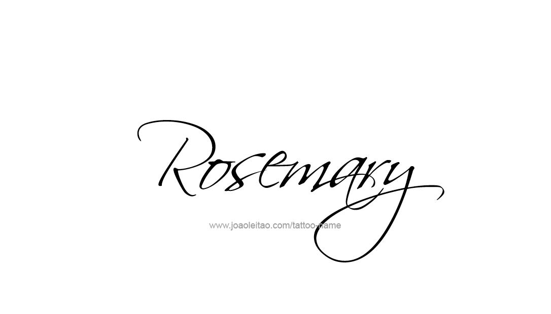 Tattoo Design Name Rosemary