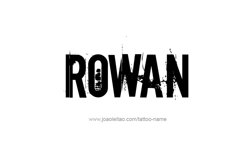 Tattoo Design Name Rowan