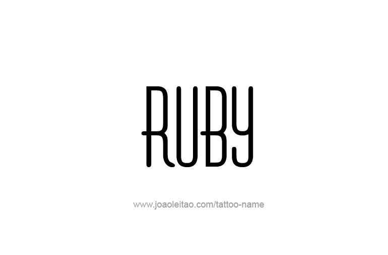 Tattoo Design Name Ruby