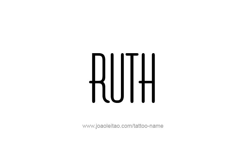 Tattoo Design Name Ruth