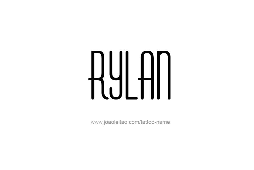 Tattoo Design Name Rylan