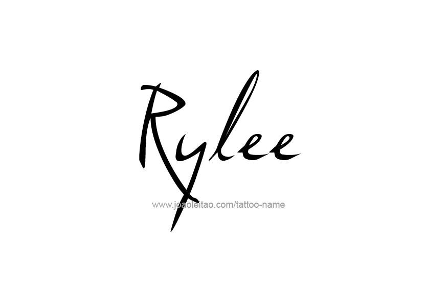Tattoo Design Name Rylee