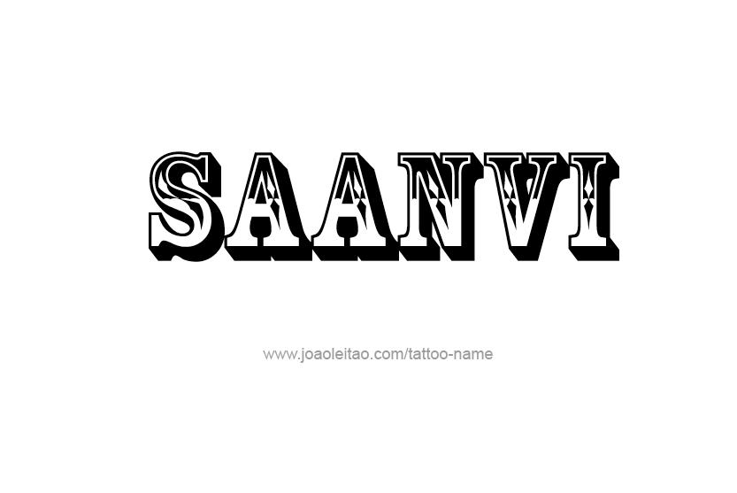 Tattoo Design Name Saanvi