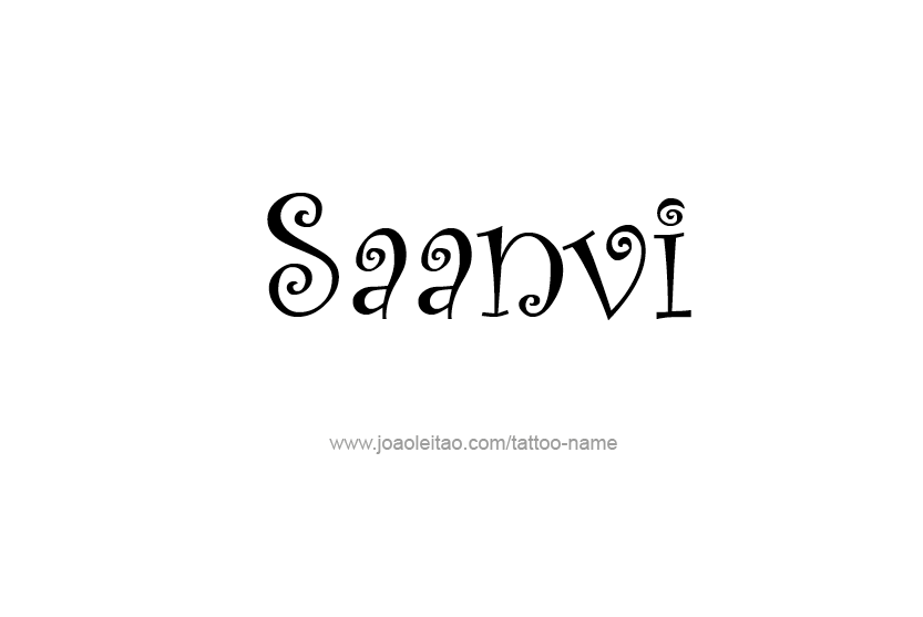 Tattoo Design Name Saanvi