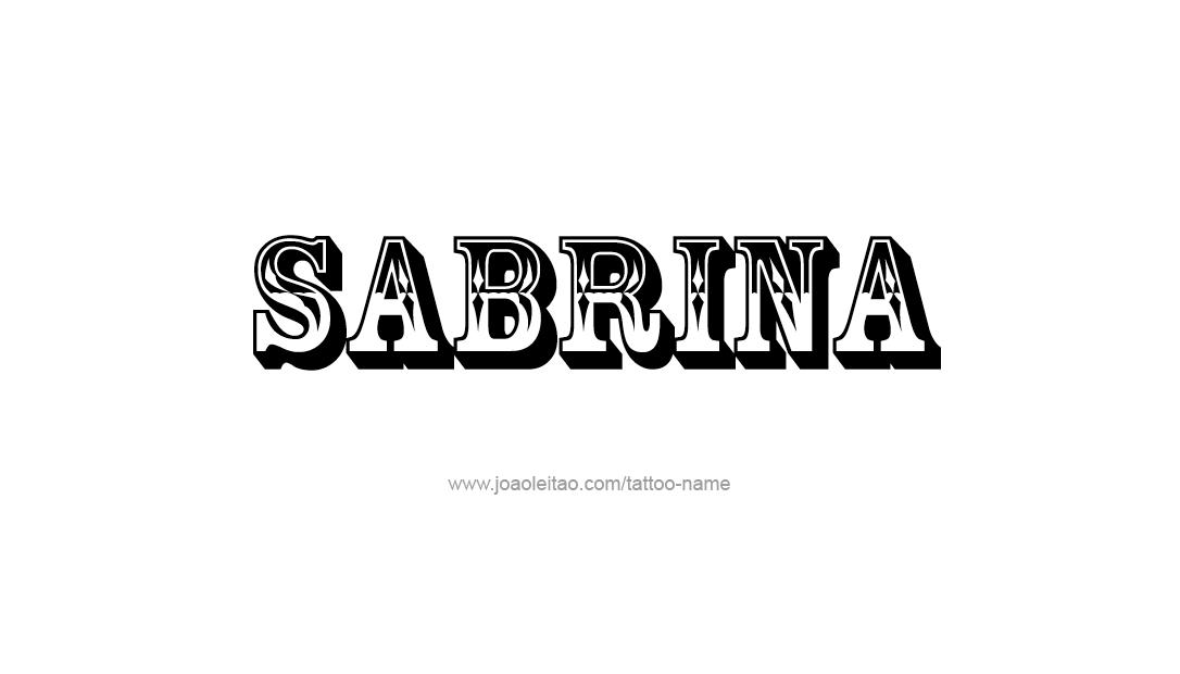 Tattoo Design Name Sabrina