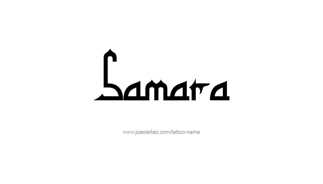Tattoo Design Name Samara