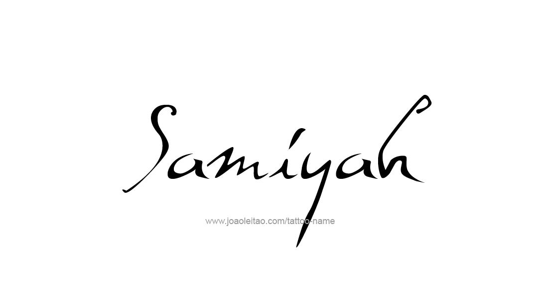 Tattoo Design Name Samiyah