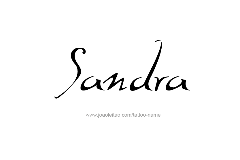 Tattoo Design Name Sandra