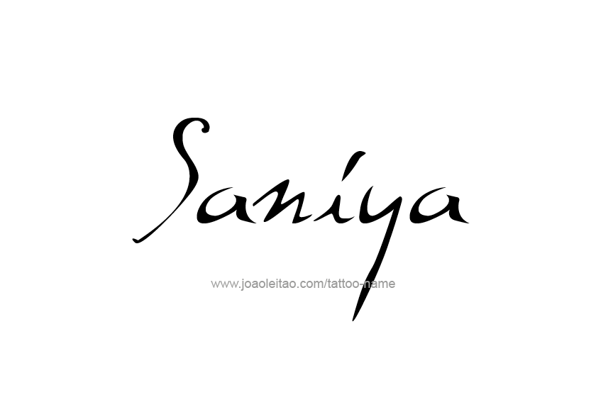 Tattoo Design Name Saniya