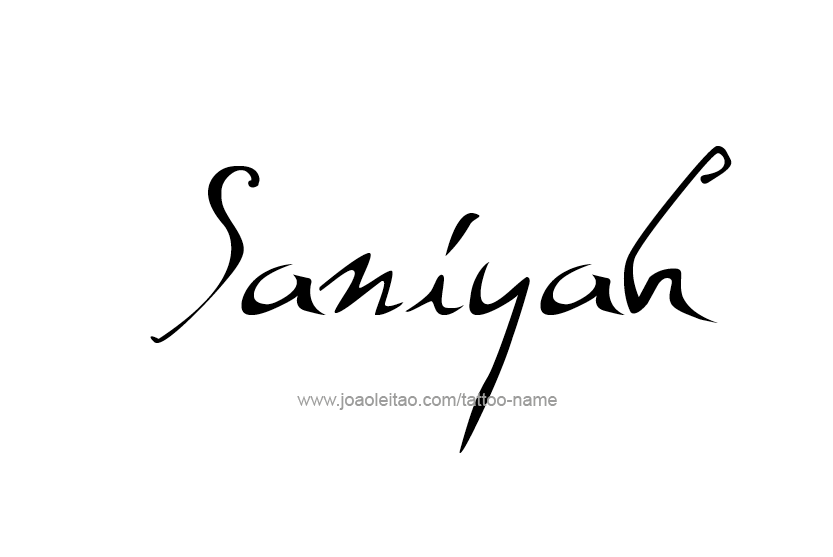 Tattoo Design Name Saniyah