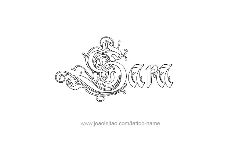 Tattoo Design Name Sara