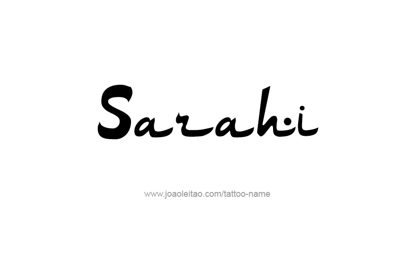 Tattoo Design Name Sarahi