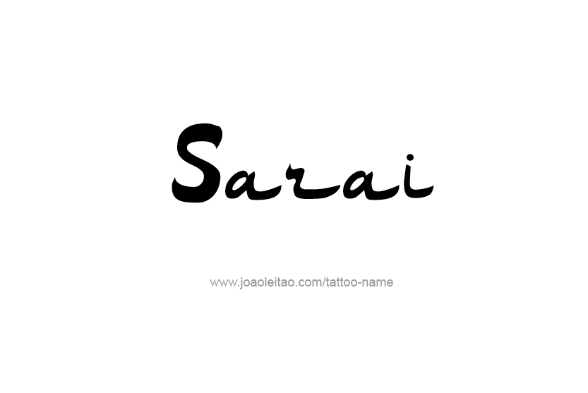 Tattoo Design Name Sarai