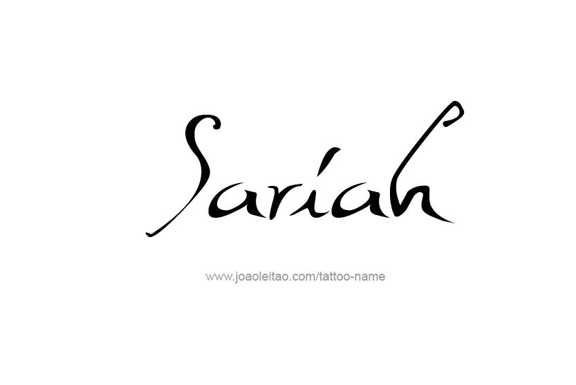 Tattoo Design Name Sariah