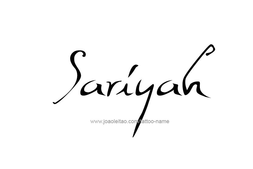 Tattoo Design Name Sariyah