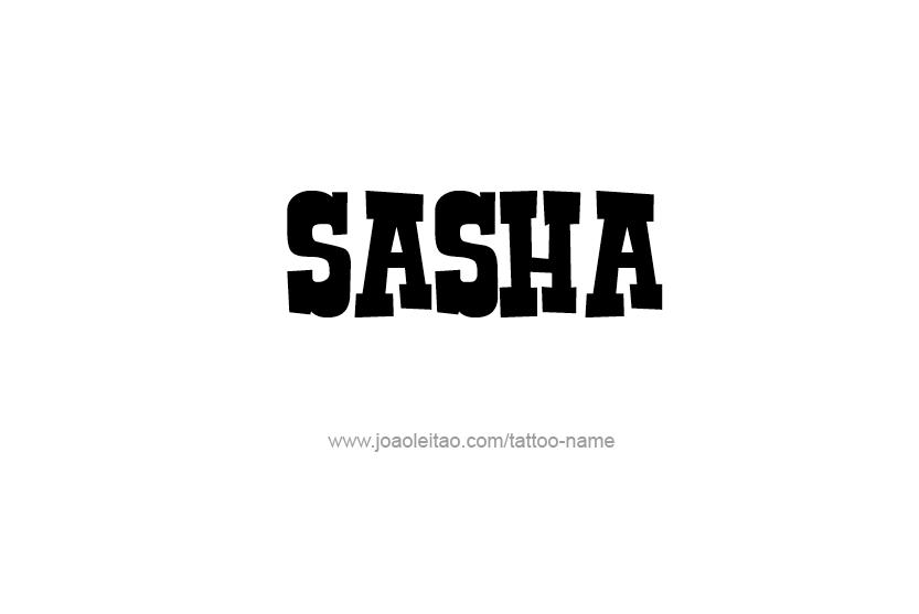 Tattoo Design Name Sasha