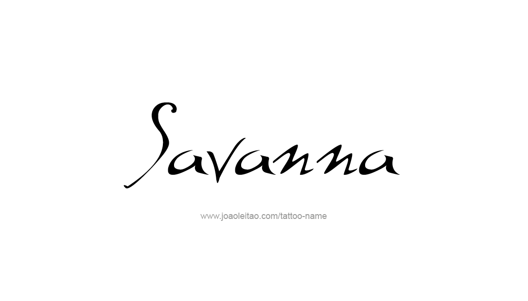 Tattoo Design Name Savanna