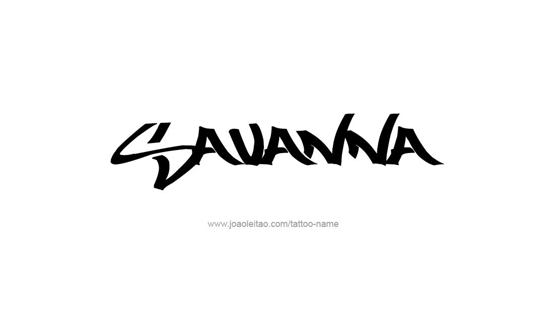 Tattoo Design Name Savanna