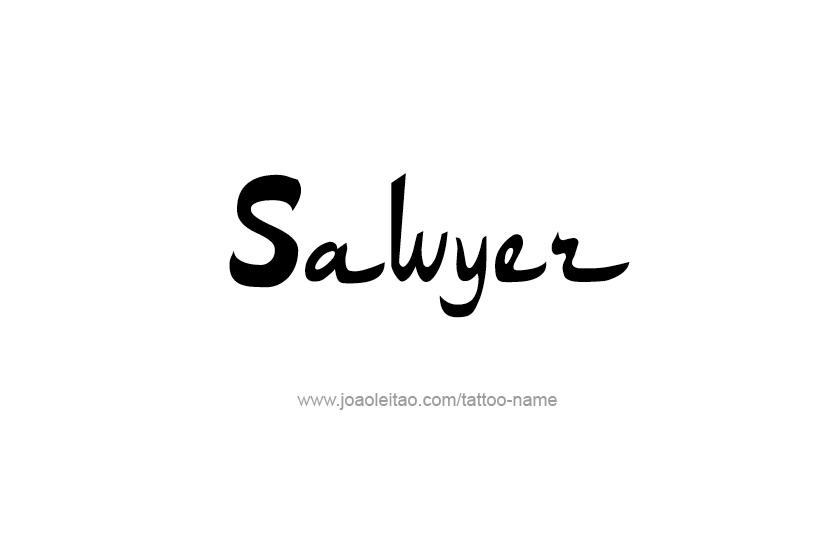 Tattoo Design Name Sawyer