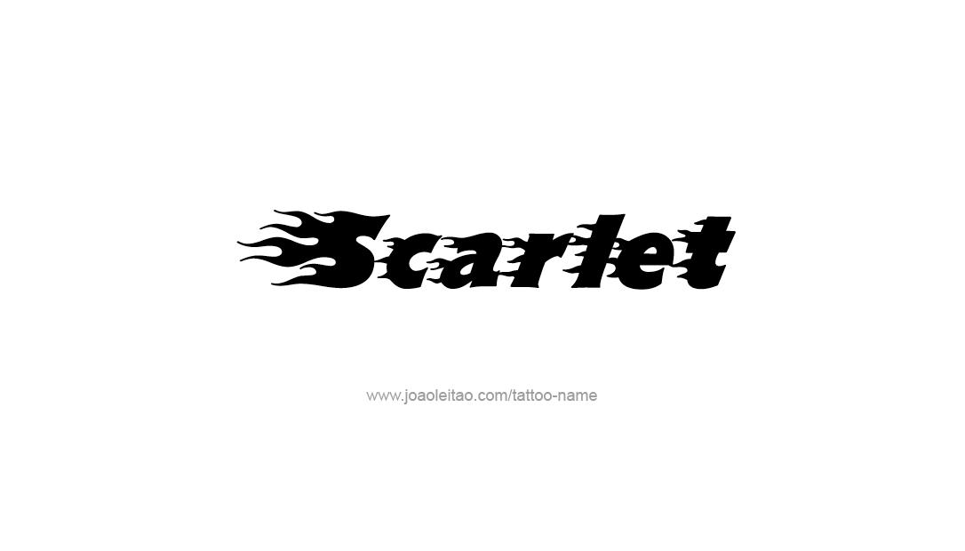 Tattoo Design Name Scarlet