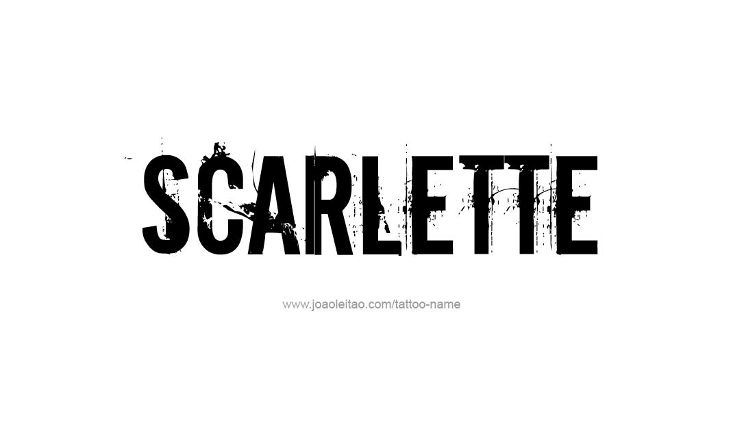 Tattoo Design Name Scarlette