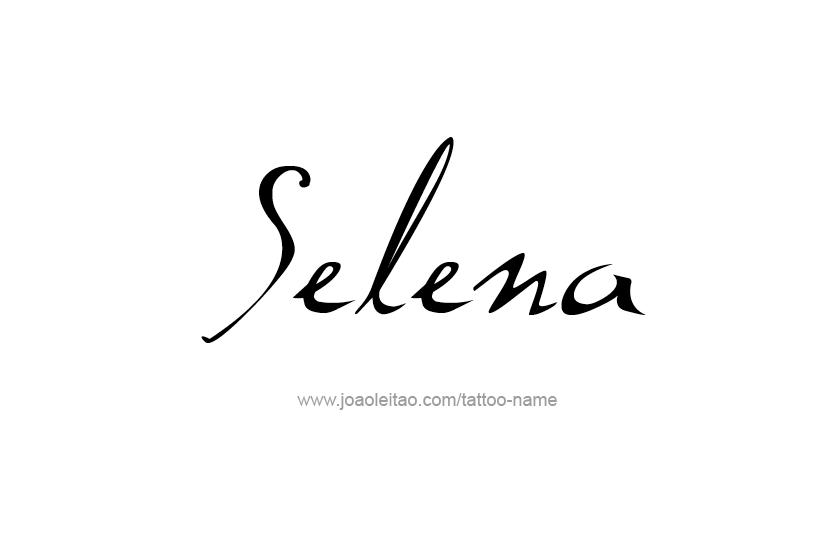 Tattoo Design Name Selena