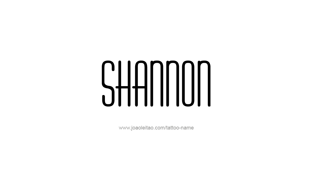 Tattoo Design Name Shannon