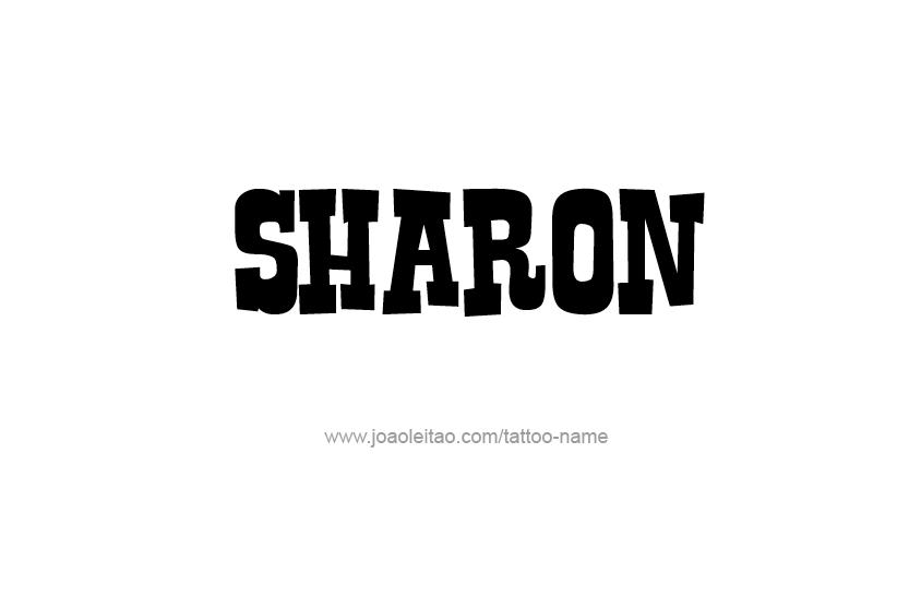Tattoo Design Name Sharon