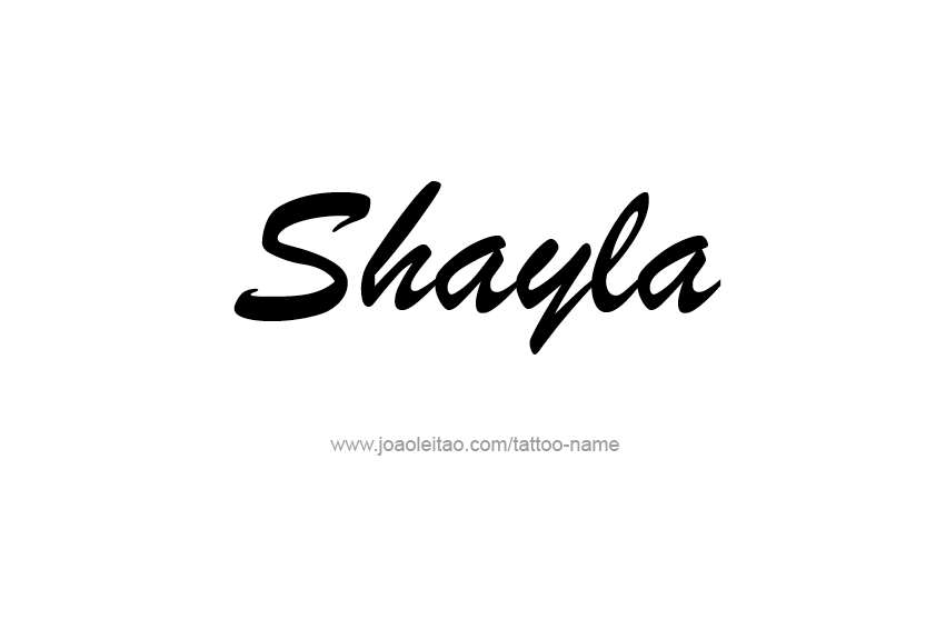 Tattoo Design Name Shayla