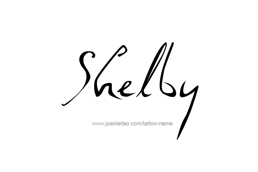 Tattoo Design Name Shelby