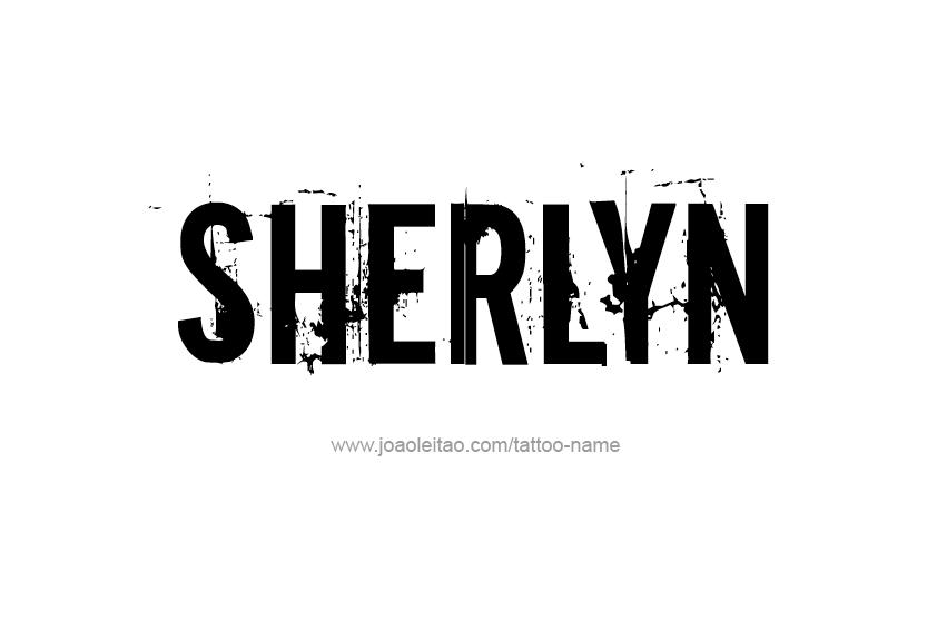 Tattoo Design Name Sherlyn