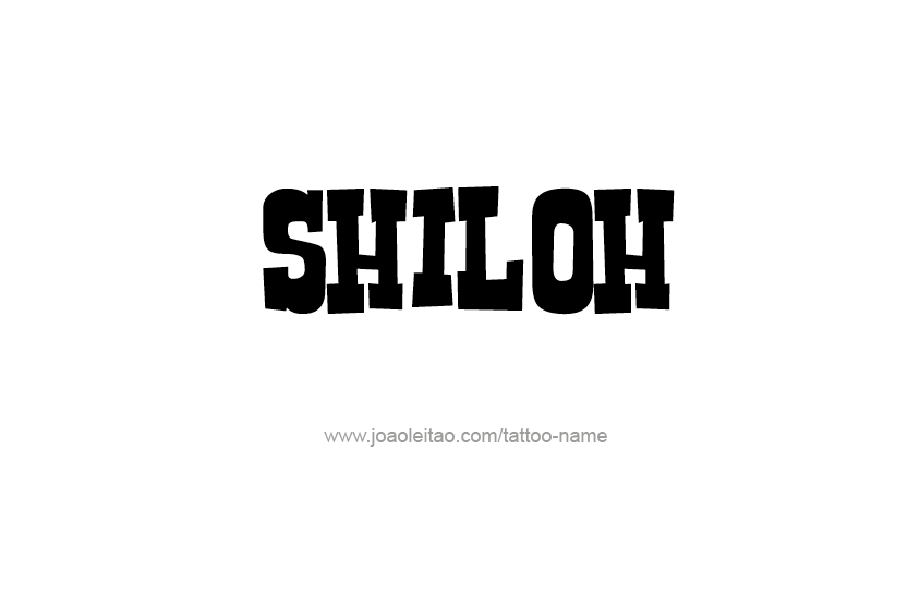 Tattoo Design Name Shiloh