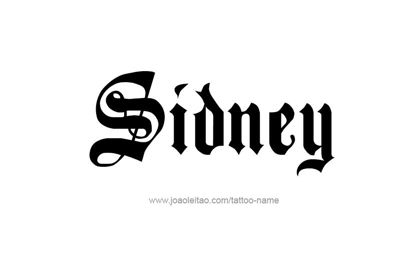 Tattoo Design Name Sidney