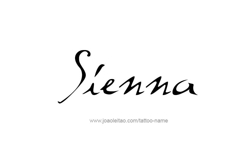 Tattoo Design Name Sienna